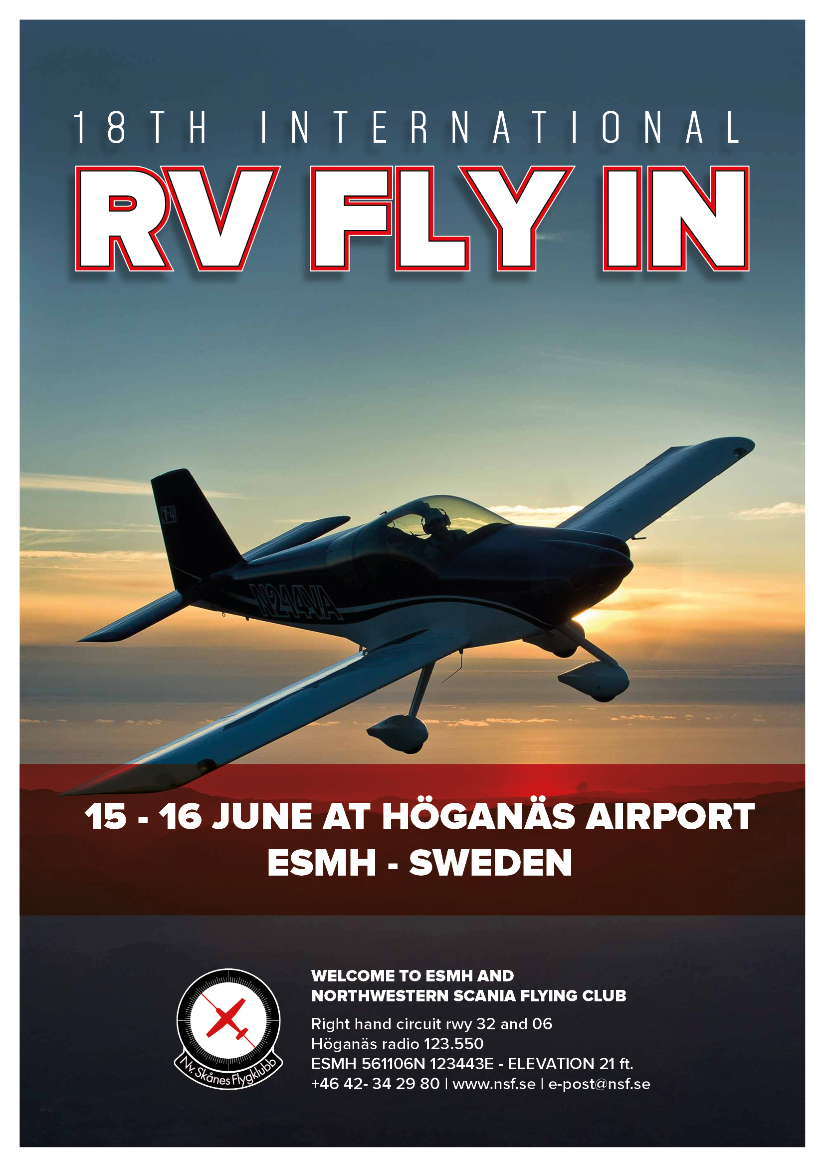 18th Swedish RV Fly-in Hoganas @ Haganas Sweden
